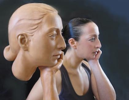 Portrait R., sculpture by Simona Ragazzi.